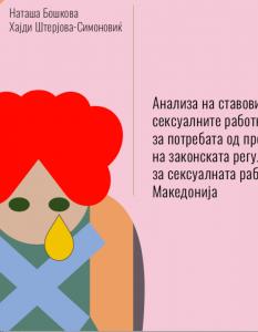 Анализа на ставовите на сексуалните работници за потребата од промена на законската регулатива за сексуалната работа во Македонија
